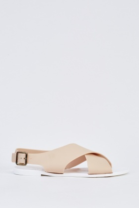 Cross Over Sling Back Sandals