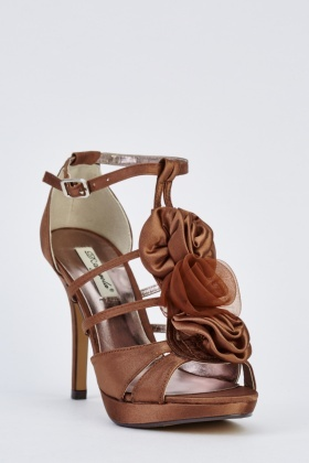 Sateen Bow T-Bar Heels