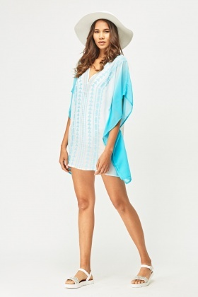Stitched Ombre Beach Cover Up