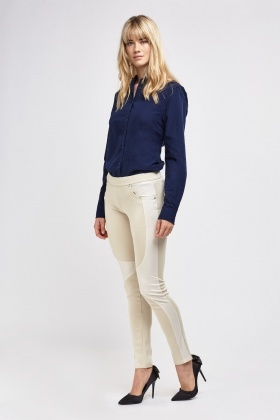 Colour Block Riding Jeggings