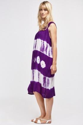 7e89739c0 Shibori Dye Long Smock Dress - Just £5