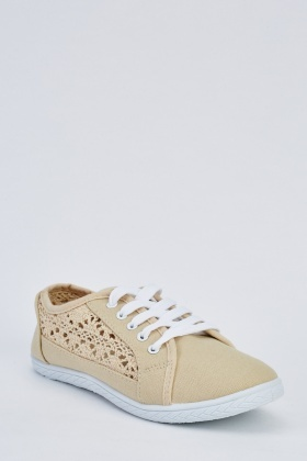 Crochet Side Lace Up Trainers