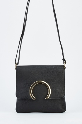Detailed Front Faux Leather Shoulder Bag