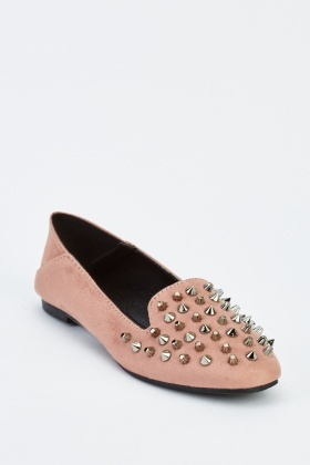Suedette Studded Shoes