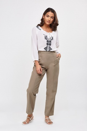 Basic Straight Leg Trousers