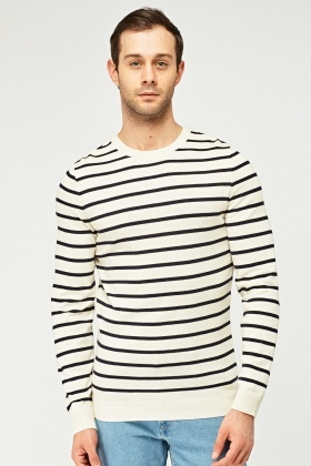 Striped Thin Knitted Jumper