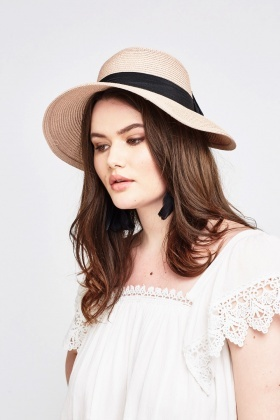 Bow Detail Panama Hat
