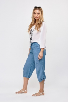 Cropped Light Weight Trousers