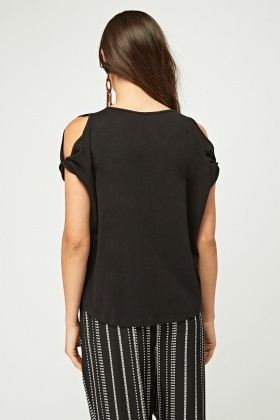 Pack Of 2 Cut Out Shoulder Top