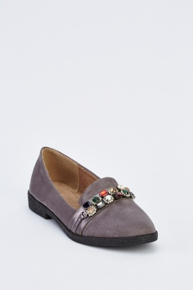 Embellished Suedette Shoes