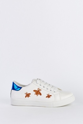 Embroidered Low Top Trainers