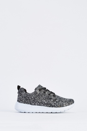 Glittered Low Top Trainers