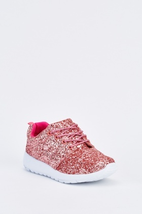 Glittered Womens Low Top Trainers