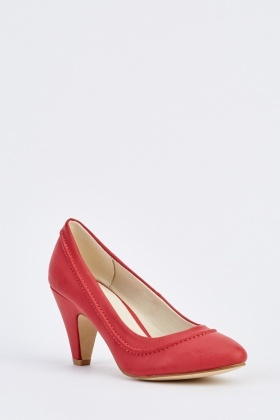 Mid Heel Pointed Court Shoes
