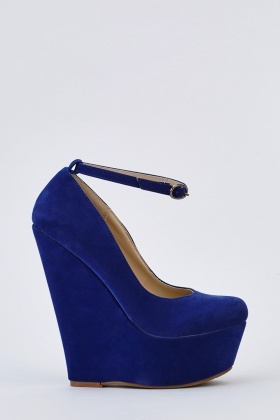 Suedette Platform Wedge Shoes