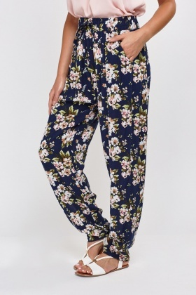 Flower Printed Light Weight Trousers