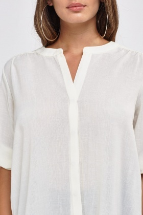 Loose Fitted Sheer Blouse