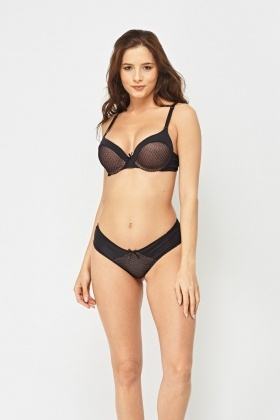Overlay Contrast Bra And Brief Set
