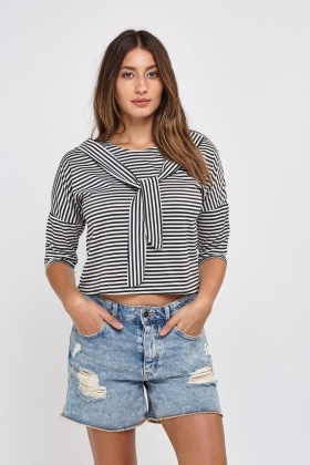 Tie Up Stripe Box Top