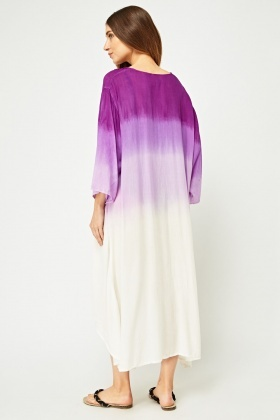 Embroidered Ombre Dyed Kimono