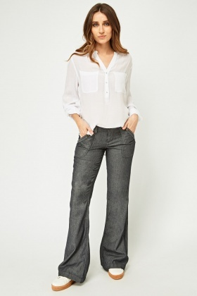 Light Weight Flared Trousers