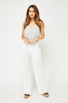 Light Weight Wide Leg Trousers