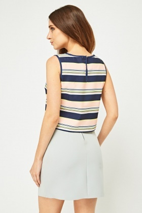 Multi Striped Crop Top