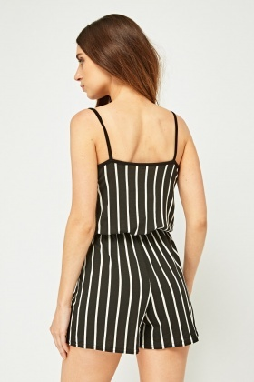 Striped Wrap Front Playsuit