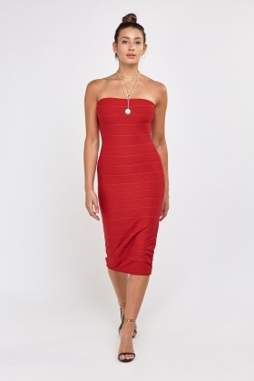 Bandeau Bandage Midi Dress