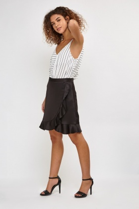 Frilly Sateen Skirt
