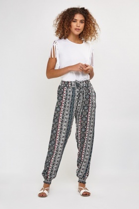 Mixed Ethnic Printed Trousers
