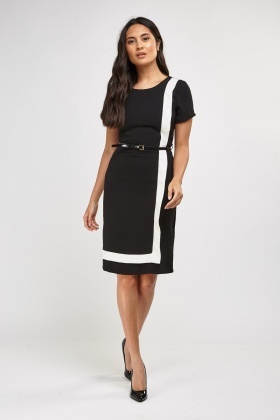 Mono Shift Midi Dress