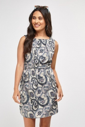 Multi Paisley Print Dress
