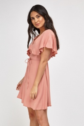 Ruffle Overlay Skater Dress
