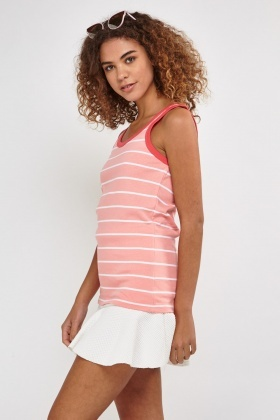 Striped Jersey Vest Top