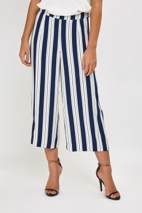 Striped Wide Leg Culottes