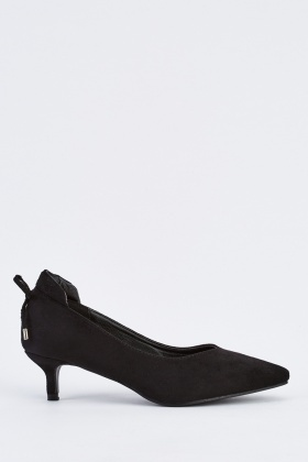 Bow Back Detail Court Shoes