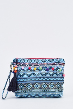 Geo Printed Cosmetic Bag