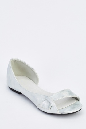 Metallic Cut Out Side Shoes