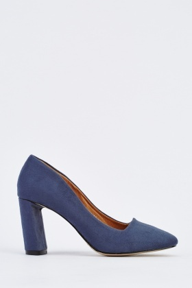 Pointed Block-Heel Pumps