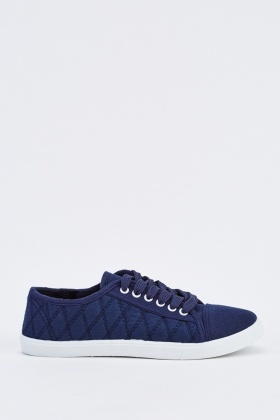 Quilted Low Top Trainers
