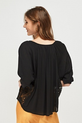 Batwing Sleeve Smock Top
