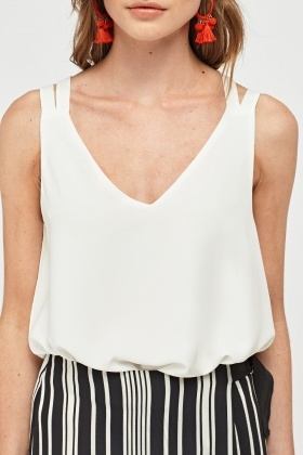 Cross Back Sheer Camisole Top