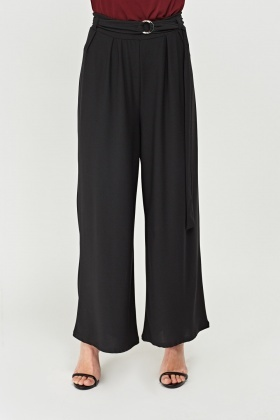High Rise Wide-Leg Trousers