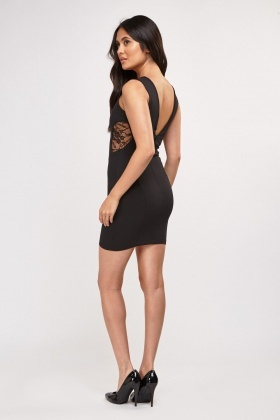 Lace Insert Bodycon Dress