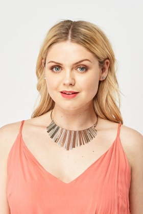 Statement Silver Necklace And Earrings Set