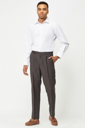 Tailored Smart Straight Leg Trousers