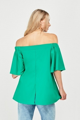 Circular Sleeve off Shoulder Dress