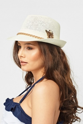 Fedora Detailed Trim Hat