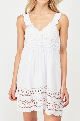 Frilly Sweetheart Broderie Dress